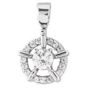 Circle pendant necklace 1.75 ct. round cut diamond